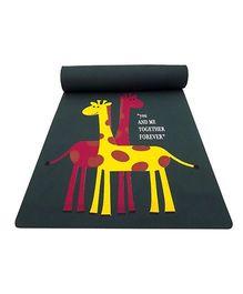 Gravolite Giraffe Couple Printed Kids Fun Mat - Grey