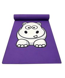 Gravolite Baby Hippo Printed Kids Fun Mat - Purple