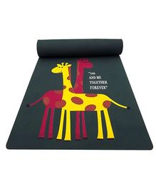Gravolite Giraffe Couple Printed Kids Fun Mat - Grey