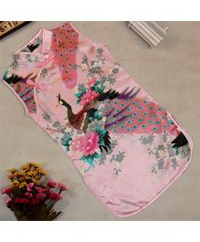 Tiny Closet Sleeveless Chinese Traditional Dress - Pink