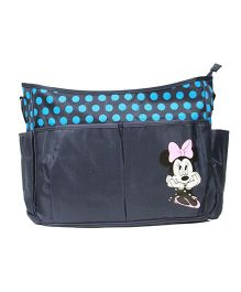 Kiwi Diaper Bag Minnie Mouse Patch - Deep Blue