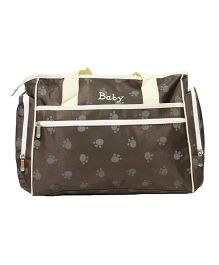 Kiwi Diaper Bag Paws Print - Brown