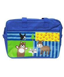 Kiwi Diaper Bag With Animal Print - Blue
