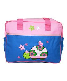 Kiwi Diaper Bag With Animal Print - Pink & Blue