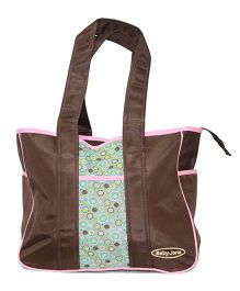 Kiwi Diaper Bag Baby Jana With Circles - Brown
