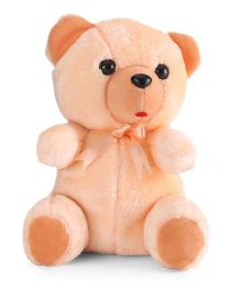 IR Fur Teddy Soft Toy Peach - 21 cm