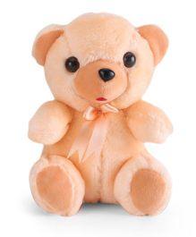 IR Fur Teddy Soft Toy Peach - 17 cm