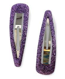 Tiny Closet Sparkle Clip - Purple