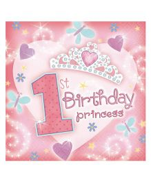 Planet Jashn 1st Birthday Princess - Pack of 36