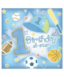 Planet Jashn 1st Birthday All Star tissue - Pack of 36