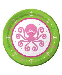 Planet Jashn Ocean Preppy Paper Plates - Pack of 8