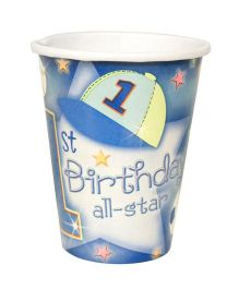 Planet Jashn 1st Birthday All Star Cups 9 Oz - Pack of 8