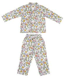 Hugsntugs Tribal Print Night Suit - Multicolour