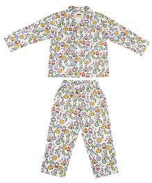 Hugsntugs Tribal Print Night Suit - Multicolour