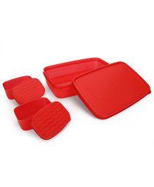 Cello Homeware Max Fresh Compact Lunch Box Set - Red