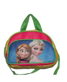 Planet Jashn Disney Frozen Luggage Bag Green - 16 Inches