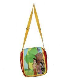 Planet Jashn Sling Bag Chhota Bheem Print Red Yellow - 12 Inches