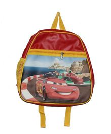 Planet Jashn Pixar Cars School Bag Red Yellow - 15 Inches