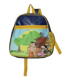 Planet Jashn Chhota Bheem School Bag Blue Yellow - 15 Inches