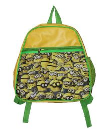 Planet Jashn Minions School Bag Yellow Green - 15 Inches