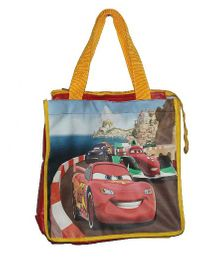 Planet Jashn Pixar Cars Swimming Bag Red Yellow - 13 Inches