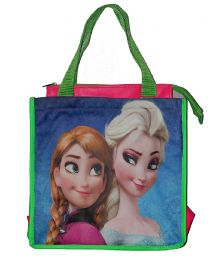 Planet Jashn Disney Frozen Swimming Bag Blue Green - 13 Inches