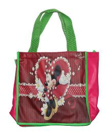 Planet Jashn Minnie Mouse Swimming Bag Green Pink - 13 Inches