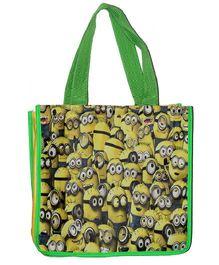 Planet Jashn Minions Swimming Bag Green Yellow - 13 Inches