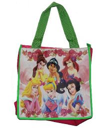 Planet Jashn Disney Princess Swimming Bag Green Pink - 13 Inches