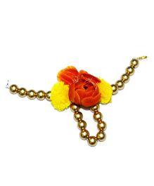 Little Pockets Store Bead Bracelet With Pompom - Copper