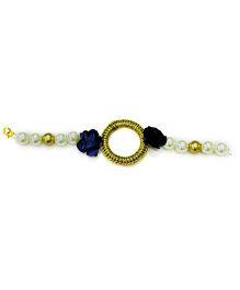 Little Pockets Store Flower N Bead Bracelet - Blue