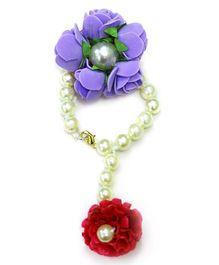 Little Pockets Store Floral Bracelet - Purple