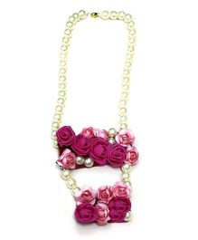 Little Pockets Store Pretty Rose Long Necklace - Pink