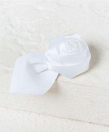 Pikaboo Rose Petal Hair Clip - White