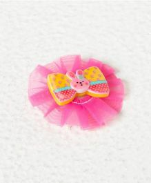 Pikaboo Bunny Bow Clip - Pink