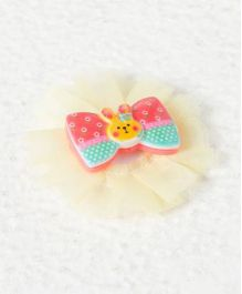 Pikaboo Bunny Bow Clip - Yellow