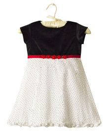 Nitallys Dotted Dress - Black & White