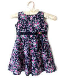 Nitallys Flower Print Dress - Blue