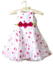 Nitallys Dot Print Party Dress - White