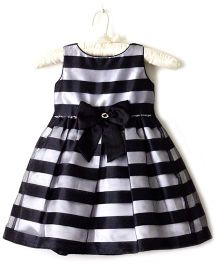 Nitallys Striped Dress - Black