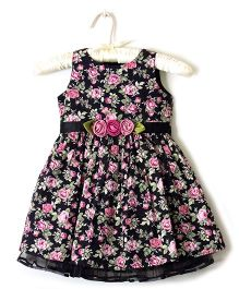 Nitallys English Floral Dress - Black