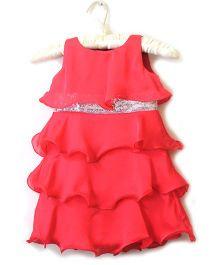 Nitallys Classy Layered Dress - Coral
