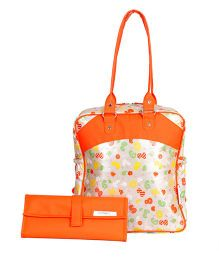 Forefinger Solutions All Season Mother Bag With Changing Mat - Orange