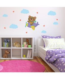 Chipakk Bear in Helicopter HD Kids Room Wall Decal - Multicolor