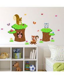 Chipakk Jungle Theme HD Quality Kids Room Wall Decal - Multicolor