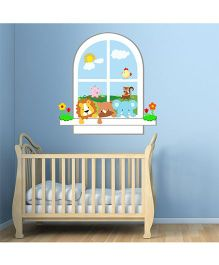 Chipakk Animals In Window HD Quality Kids Room Wall Decal - Multicolor