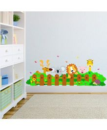 Chipakk Animals In Garden HD Quality Kids Room Wall Decal - Multicolor