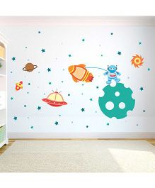 Chipakk Space Theme HD Quality Kids Room Wall Decal - Multicolor