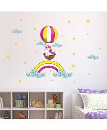 Chipakk Baby Pony In Hot Air Balloon HD Quality Kids Room Wall Decal - Multicolor