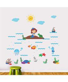 Chipakk Aqua Theme 5 HD Quality Kids Room Wall Decal - Multicolor